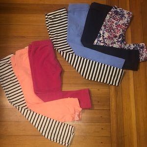 7 Pairs Girls Gymboree Leggings